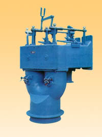 铊式双体废气交换开闭器